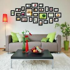 US 26 Piece Family Set Wall Photo Frame Art Home Decor Picture Collage Black