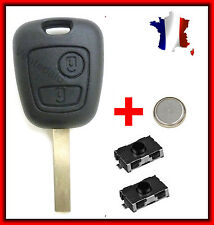 Case PLIP Key Remote control Peugeot 106 107 207 307 + 2 Switch Button + Battery
