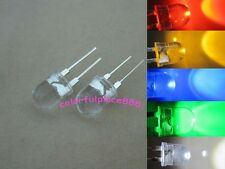 50pcs, 10mm 0.5W Red Yellow Blue Green White 40° Large Chip Water Clear LED Leds