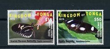 Tonga 2015 MNH EMS Part 1 Butterflies 2v Set Insects Scarlet Mormon Butterfly
