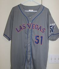 LAS VEGAS LV 51s ALIEN MINOR LEAGUE BASEBALL JERSEY Sz Mens XL Gray