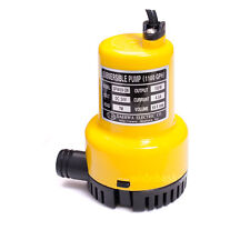 DPW69-24 DC 24V 100W Small Submersible Water Pump 1100GPH Max lift 7m for Pond