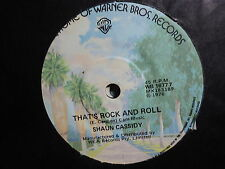 "Shaun Cassidy ""That's Rock And Roll"" Great Oz 7"""