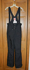 VTG Men's SKYR Ski Bibs Snow Pants Overalls  SMALL Black  EUC