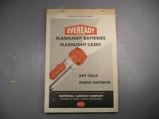 Eveready Flashlight Battery Case Radio Dry Cell Distributor Order Book Store Old