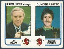 PANINI FOOTBALL 84-#466-A-B-DUNDEE UNITED-JIM McLEAN / HAMISH McALPINE