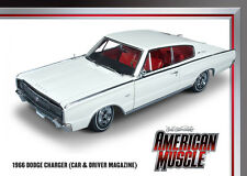 1966 Dodge Charger White 1:18 Auto World 990