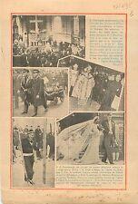 Eglise du Bourget Messe Victimes de L'Emeraude Chanteur à la  1935 ILLUSTRATION