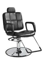 SHAMPOO Black STYLING HYDRAULIC BARBER CHAIR HAIR BEAUTY SALON EQUIPMENT RECLING