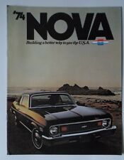 CHEVROLET NOVA gamma 1974 USA inchiostri BROCHURE catalog-COUPE BERLINA SS personalizzato