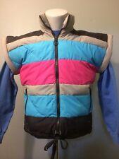 Vintage Mountain Goat Down Vest 1980S 80s Retro Gaper Ski Womens Sm Puffer Neon