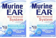 2 Pack - Murine Ear Wax Removal System Kit, Doctor Recommended .05 Fl Oz Each