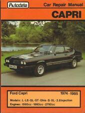FORD CAPRI 2.8 INJECTION,LASER,CABARET,GHIA,GL,S,LS,GT WORKSHOP MANUAL 1974-1985