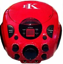 EASY Karaoke ekg77 Beatbox Portable CD Player Grafica Computer con microfono-Rosso