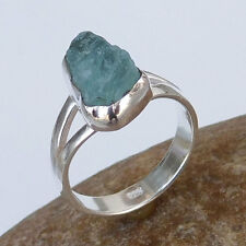 ebay Genuine Silver Jewelry Store 925 Sterling silver AQUAMARINE Ring Size US 7