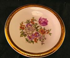 Vintage Porcelain Floral Leaves & Gold Gilt Pin Dish C L Czechoslovakia No.5