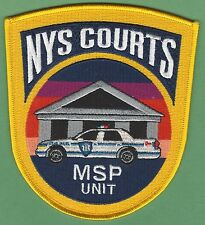 NEW YORK STATE COURTS MSP MOBILE SECURITY PATROL POLICE PATCH