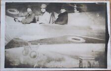1920s Studio-Shot Realphoto Aviation Postcard: Women in Early Airplane
