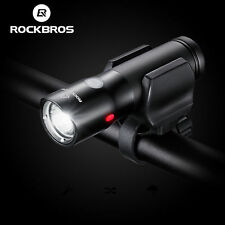 Rockbros Bike Front Light Bicycle Lamp Power Bank USB Rechargeable Flashlight