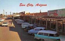 SUN CITY AZ Main Shopping Center US 89 Roadside Arizona Postcard ca 1950s