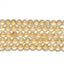 Strand Of 45+ Golden Citrine 8mm Plain Round Beads GS19289-3