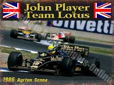 Clásico Automovilismo John Jugador Lotus JPS Ayrton Sena 32 Medio Metal/Estaño