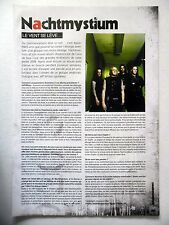 COUPURE DE PRESSE-CLIPPING :  NACHTMYSTIUM  08-09/2008 Jeff Wilson,Assassins