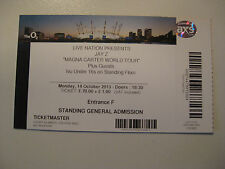 JAY Z  O2 LONDON  14/10/2013 TICKET