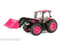 Case IH Big Farm Pink Tractor with Loader Lights & Sound 1/16 Toy