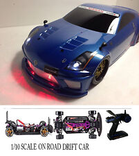 NISSAN 350Z Custom 1/10 Scale Remote Control Onroad  Drift Car FLAT BLACK