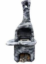 Grillkamin Marleen in Farbe Grau/Schwarz, Gartenkamin, Grill
