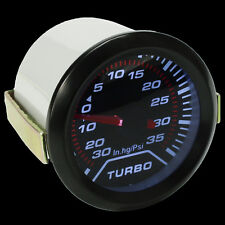 Universal 52mm 2'' Digital LED Boost Turbo Meter Gauge Smoke Tint Lens Psi