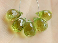 AA Natural Peridot Faceted Teardrop Briolette Gemstone Beads