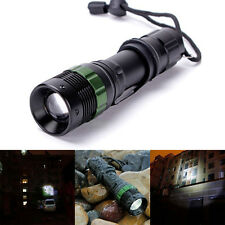 X800 3000LM Zoomable CREE XM-LQ5 Led Flashlight Lamp Light Black with Hand Strap