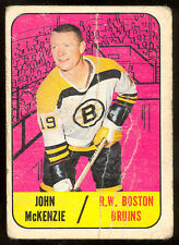 1967 68 TOPPS HOCKEY #39 JOHN MCKENZIE LG-VG BOSTON BRUINS CARD