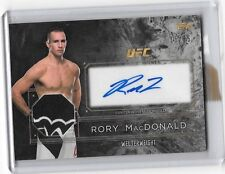 2016 Topps UFC Top of the Class SILVER Auto Relic Card RORY MACDONALD 15/25