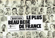 PUBLICITE ADVERTISING 056  1983  Grand Concours National (2p) plus beau bébé Fra