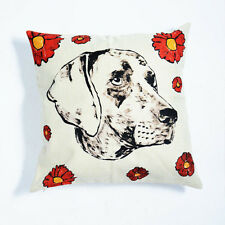 GILLIE AND MARC - authentic dog animal print linen cushion with insert