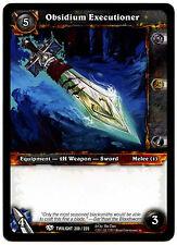 Obsidium Executioner #200 Warcraft Twilight Of The Dragon WoW TCG Card (C312)