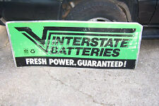 "INTERSTATE BATTERIES NFL METAL ADVERTISING SIGN  60"" X 24"""