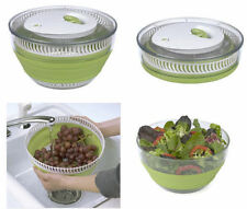 PROGRESSIVE GREEN COLLAPSIBLE SALAD SPINNER. NEW, NO ORIGINAL PACKAGE