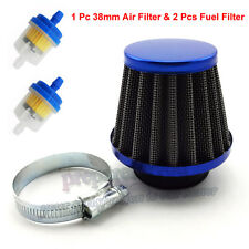 38mm Blue Air Filter Fuel Clearner 50cc 110cc 125cc Dirt Pit Bike ATV Scooter