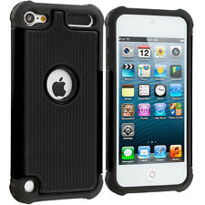 For Apple iPod Touch 6th Generation 6G Shockproof Hard Hybrid Case Cover Black