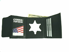 Colorado Police Badge ID Wallet 6 point star S-240 recessed badge cut out CT-09