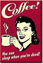 Retro Kaffee Trinker USA Magnet Magnetschild für Küche Bar Gastro