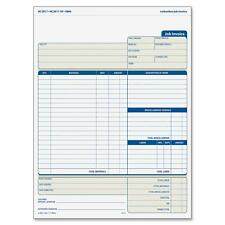 "Job Invoice Forms,2-Part,Corbels,100 St./BK,8-1/2""x11-7/16"""
