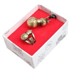 Vintage Anime Naruto Gaara Bronze Metal Ring & Pendant Necklace Cosplay 2pcs/Set