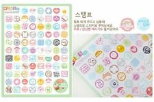 Kawaii Diary Deco Post Mark Stamp Love Transparent Kitsch Cute Sticker 2 Pgs