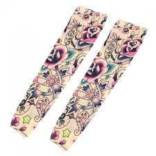 Star Flower Pattern Fake Tattoo Arm Art Sleeve Oversleeve 2 Pcs