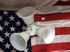 HAMPTON BAY CEILING FAN REPLACEMENT LIGHT KIT 3 BULB WHITE With Glass